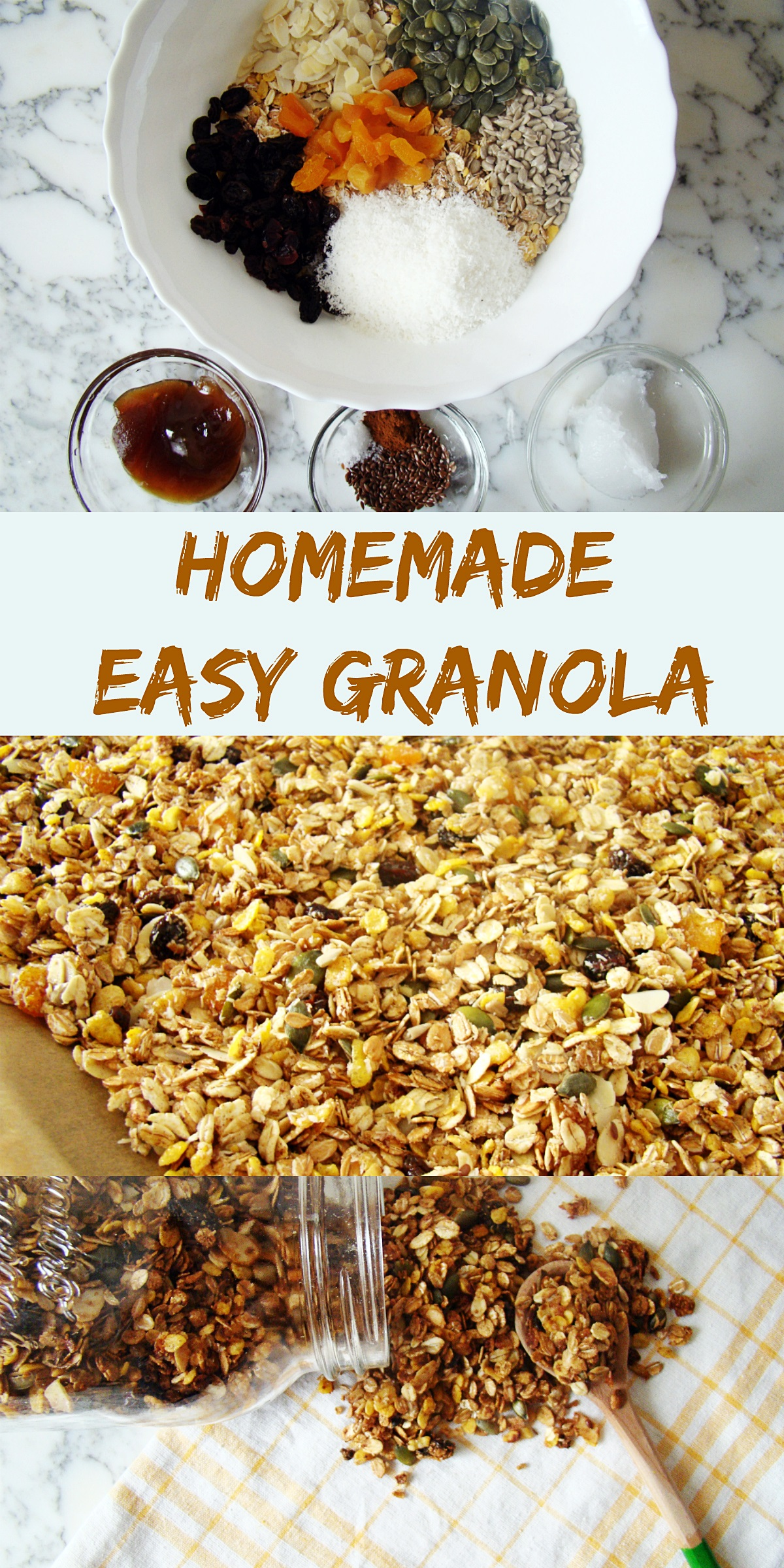 Homemade easy granola
