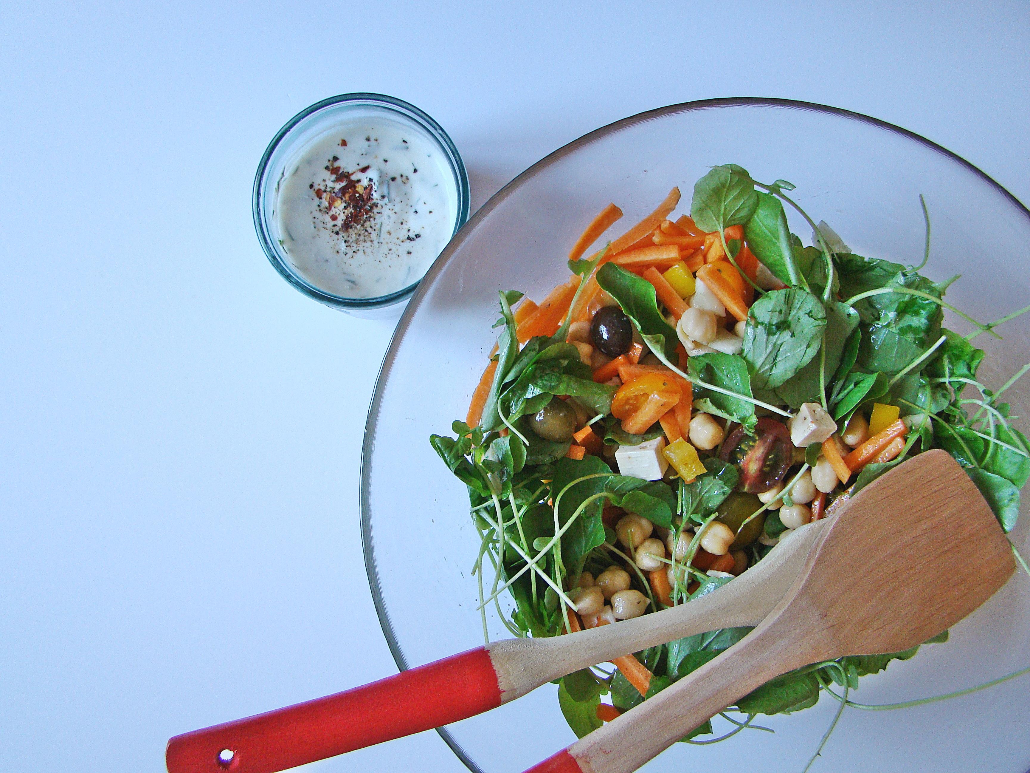 Chickpea Mediterranean Salad