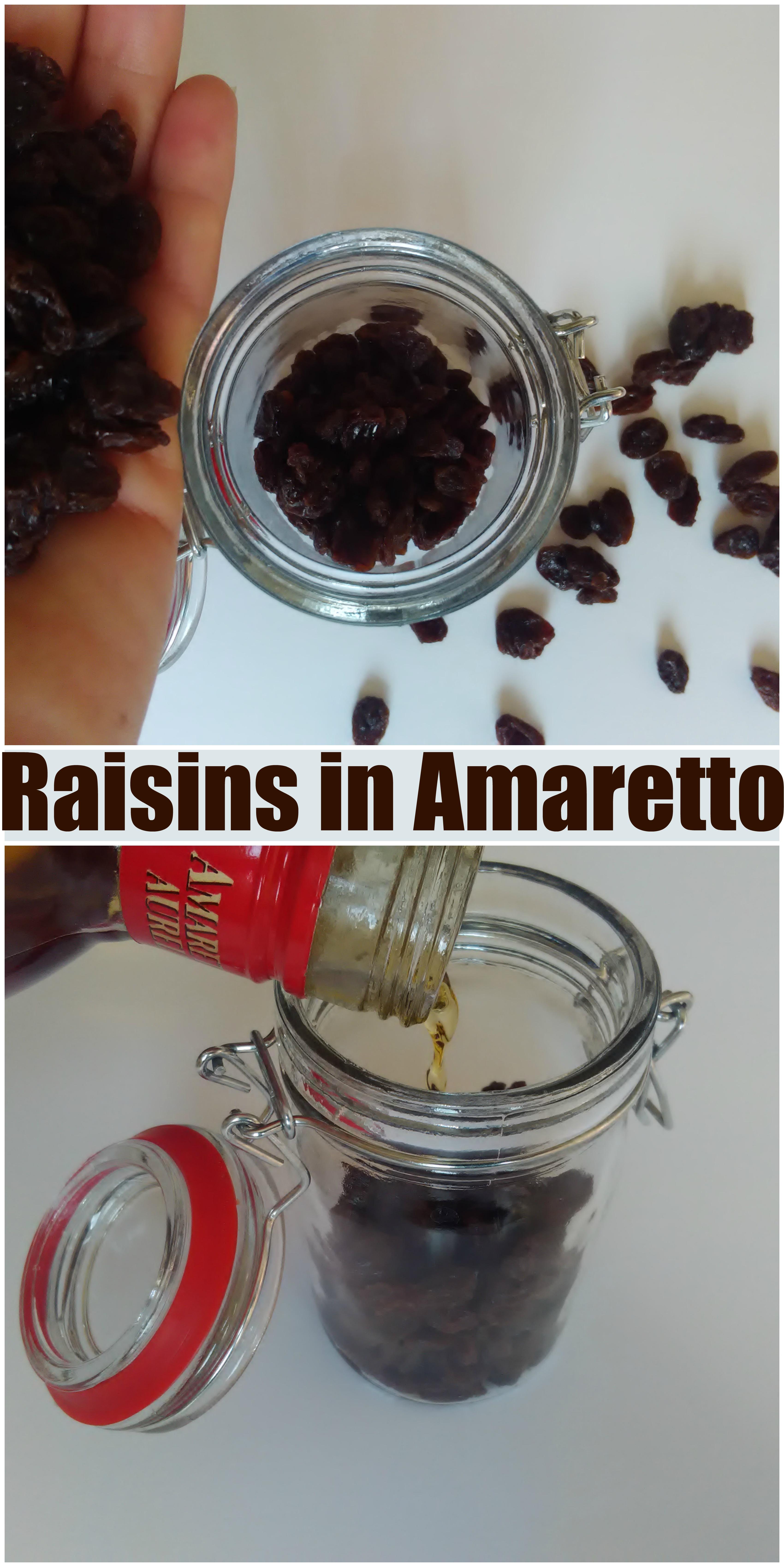Raisins in Amaretto