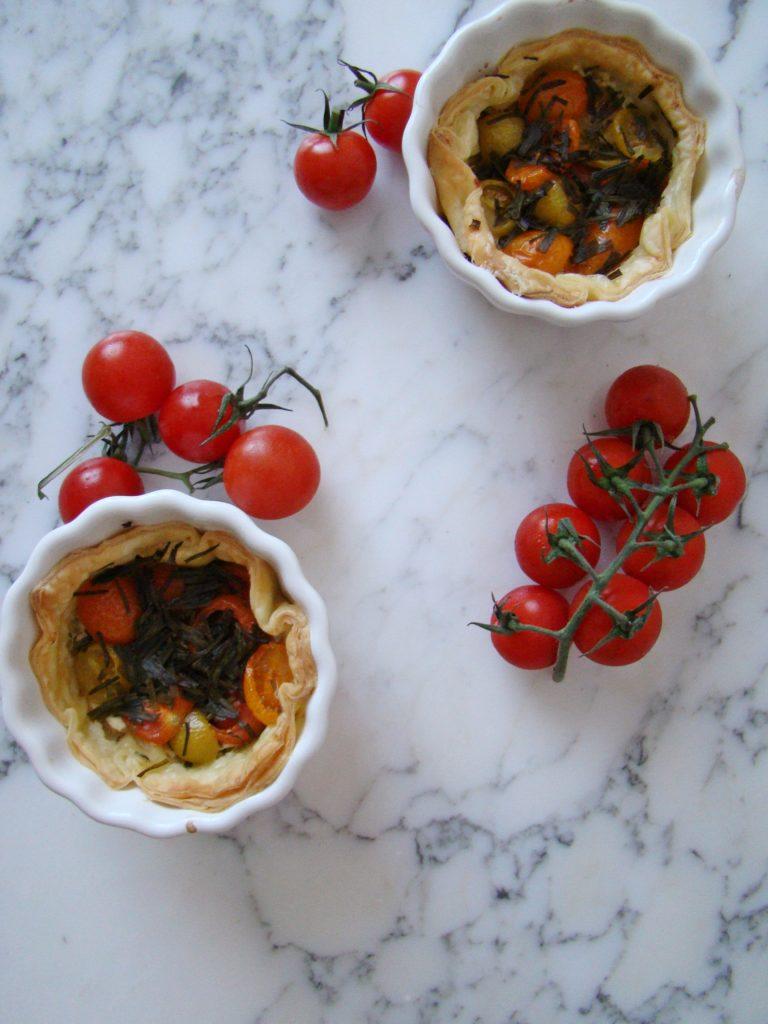 Mascarpone and Tomato Individual Tarts (for two)