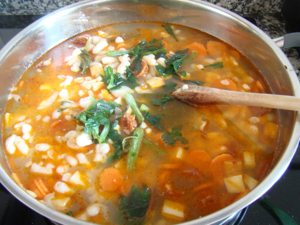 White Bean Stew with Kale and Sausages