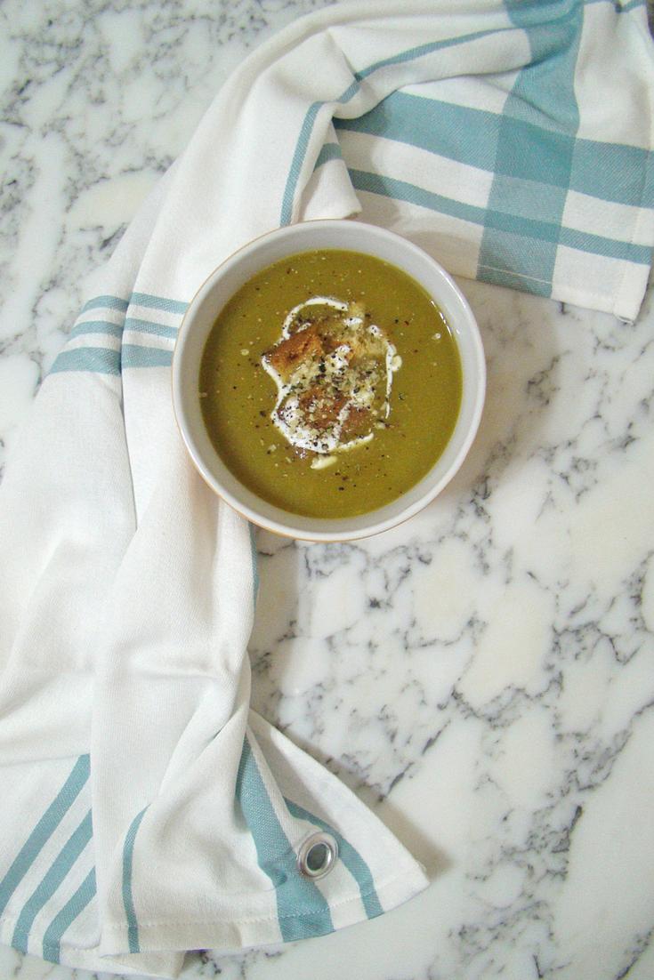 Chard and Potato Cream Soup