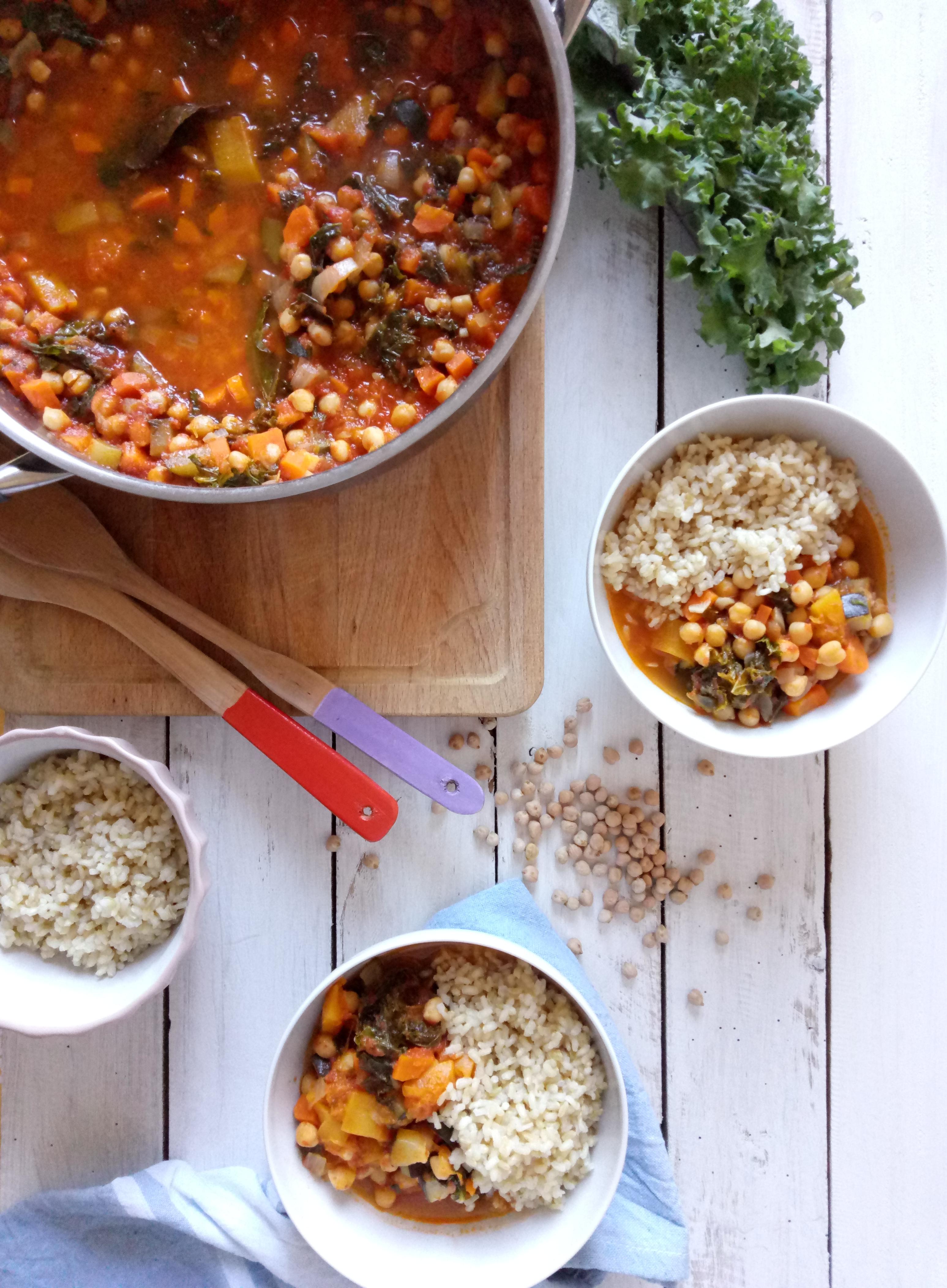 Chickpea and Pumpkin Stew (Vegan)