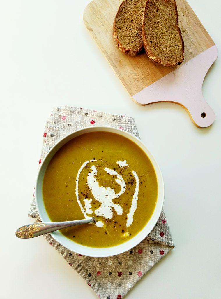 Chard and Potato Cream Soup | booksandlavender.com