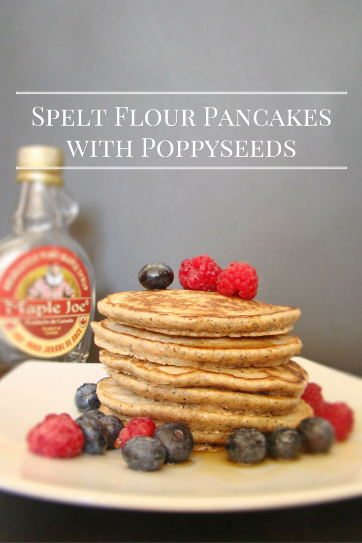 Spelt Flour Pancakes with Poppyseeds - Welcome to my kitchen.