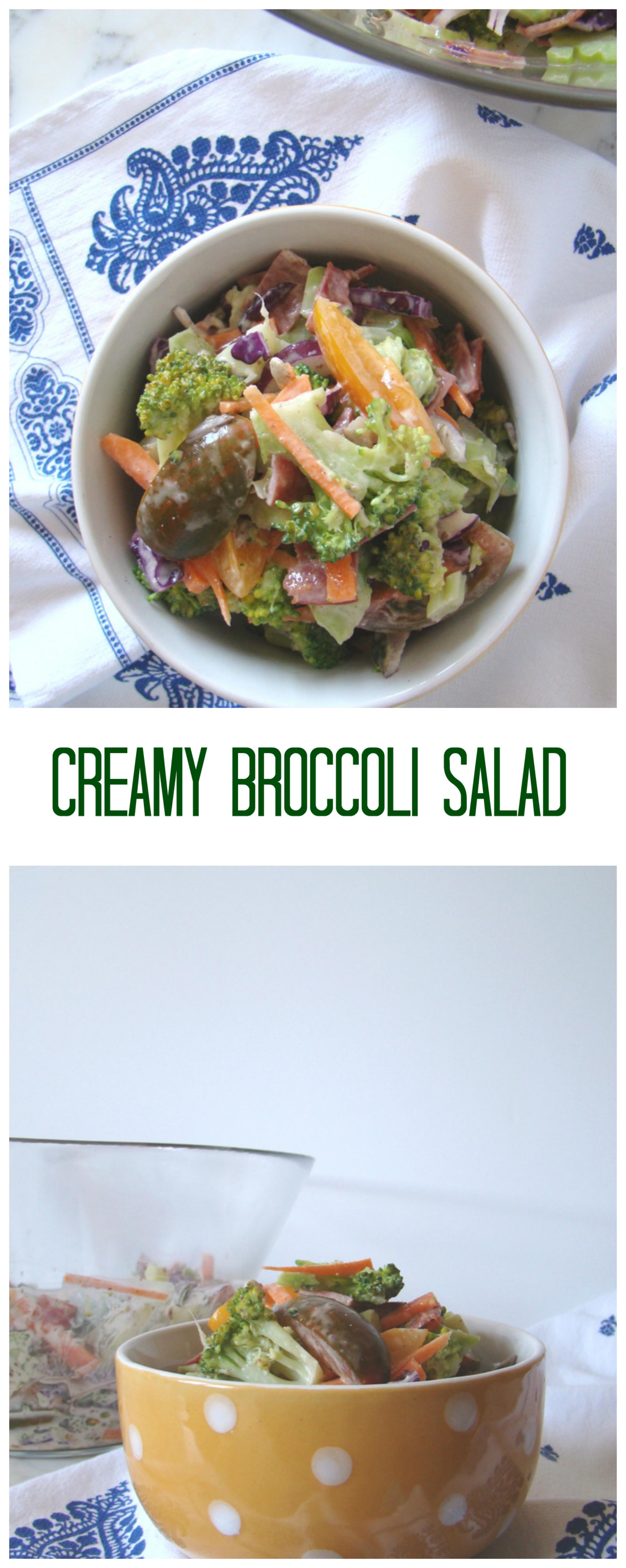 Creamy Broccoli Salad | booksandlavender.com
