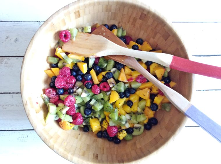 Poppy Seeds and Lime Fruit Salad | booksandlavender.com