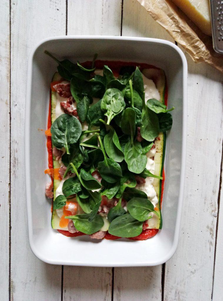 Zucchini and Spinach Lasagna