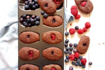 Chocolate Berries Madeleines