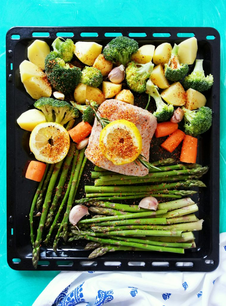 SHEET PAN DINNER - Pork Loin and Veggies (Easy Cleanup!)