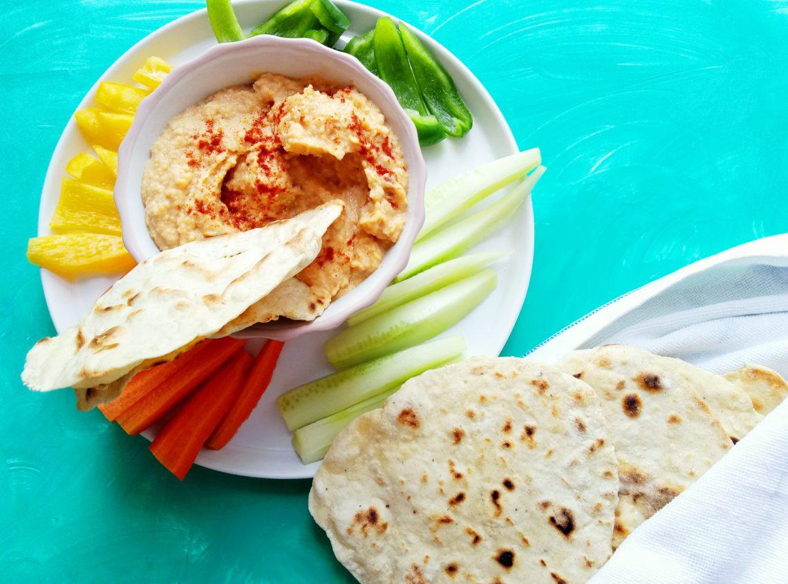 Hummus with Homemade Pita Bread