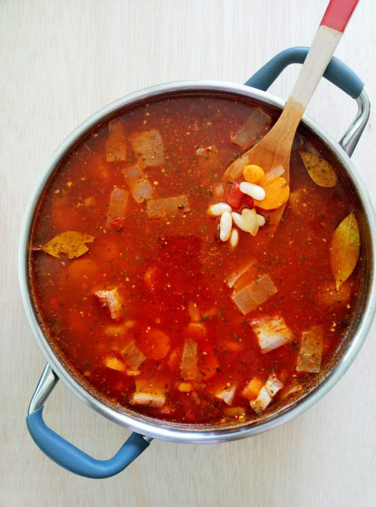 Comforting Chorizo Sausage and Bean Stew | booksandlavender.com